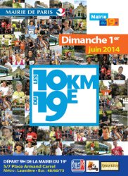 Affiche 10 km du 19e