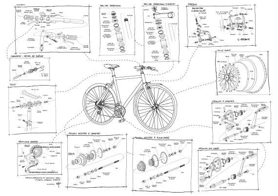 Dessin technique vélo