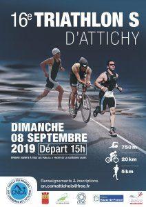 Affiche triathlon d'Attichy