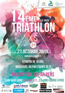 Affiche triathlon des Pieux