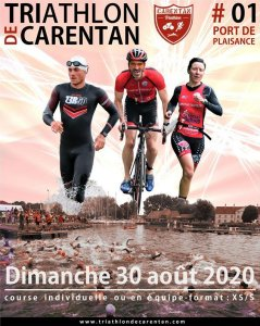 Affiche triathlon de Carentan